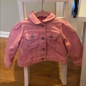 Pink Jean Jacket 6-12m